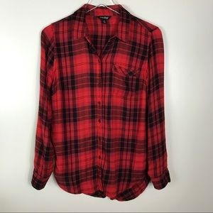 Lucky Brand Lumberjack Red Plaid Shirt Size Small